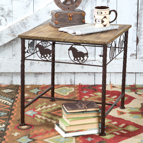 Running Horse Side Table