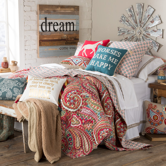horses make me happy bedding collection - Horse Bedding