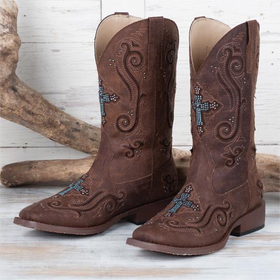 4376d591a27 Roper Crystal Cross Boots