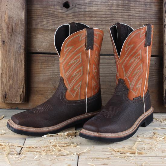 Justin Orange Steel Toe Work Boot