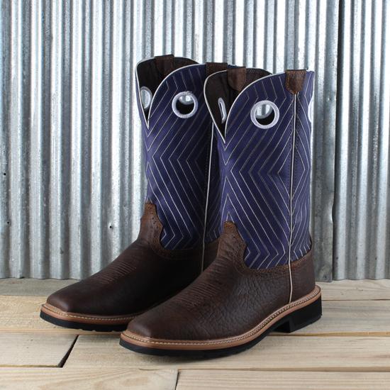 Justin Purple Waxy Crunch Work Boot