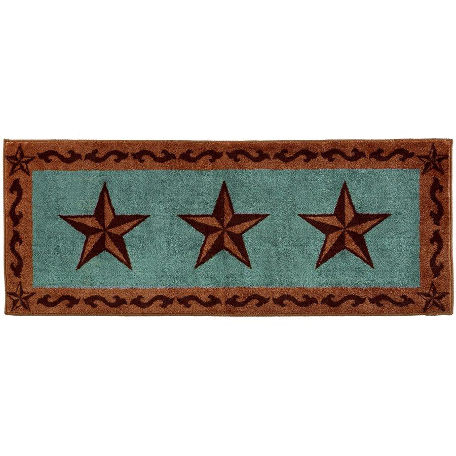 Western Clic Star Bath Kitchen Rug
