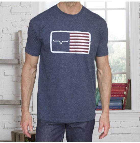 4196 Kimes Ranch homme bleu marine AMERICAN TRUCKER T-Shirt Graphique