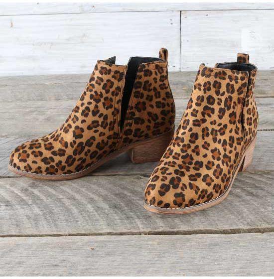 Corkys Leopard Shield Booties