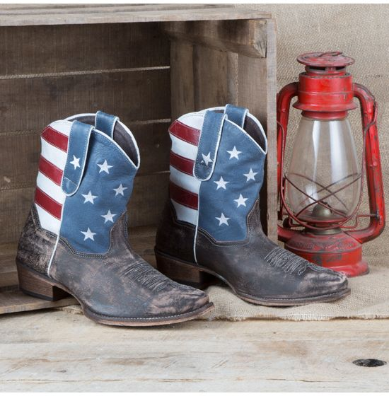 Roper American Flag Shorty Boots