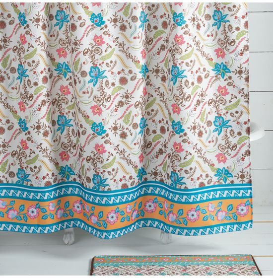 Western Blooms Shower Curtain