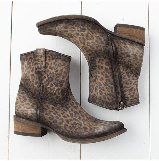 Corral Leopard Booties