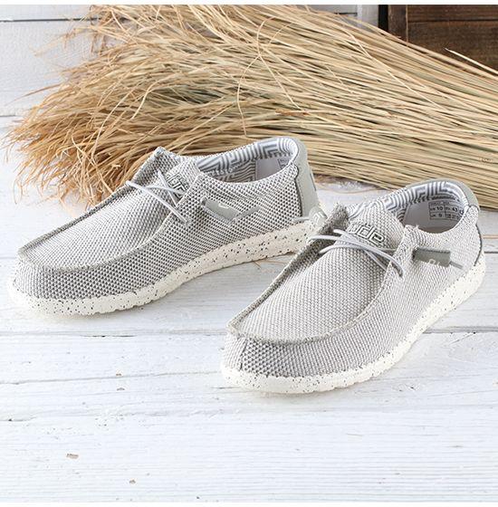 Dude Shoes Hey Mens Wally Sox Mesh Ash
