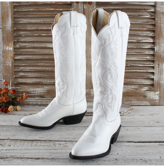 Justin White Dyeable Boots