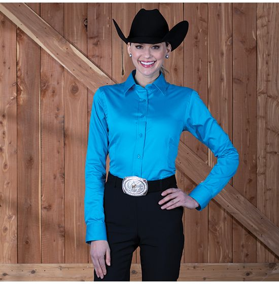 Sateen Turquoise Show Blouse